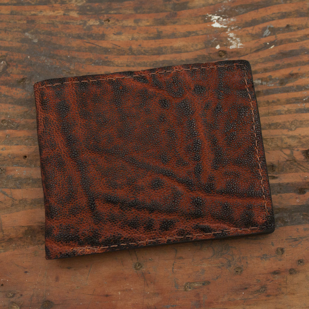 Dragon Fire Elephant Leather Bifold Wallet