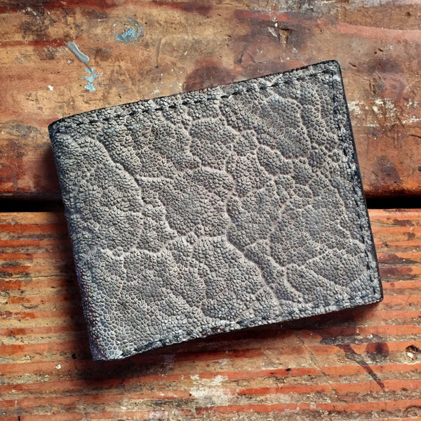 Gray Elephant Hide Bifold Wallet Yoder Leather Company