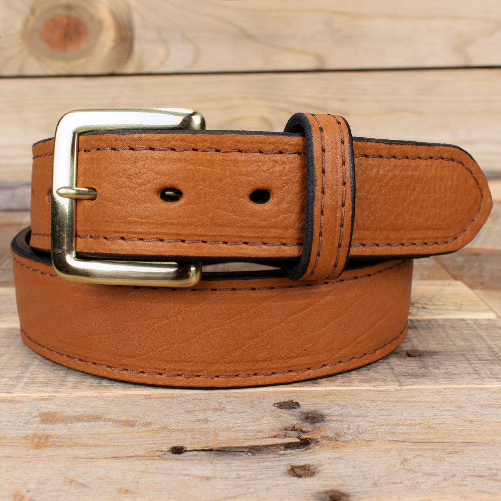 Brown Bison Amish Belt
