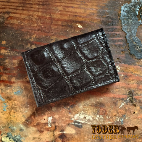 Alligator Skin Card Case