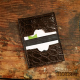 Gator Leather Business Card Holder