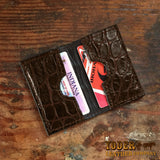 Alligator Brown Credit Card Wallet