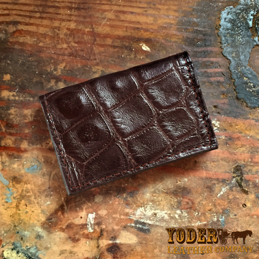 Alligator Brown Business Card Wallet