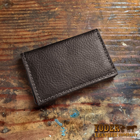 Leather business and credit card holders yoder leather company bison black card case colourmoves