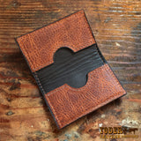 Brown Amish Cowhide Business Wallet