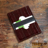 Eel Brown Credit Card Leather Wallet