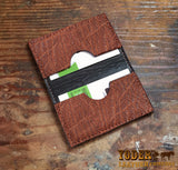 Brown Elephant Leather Card Wallet