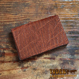 Brown Elephant Hide Business Card Wallet