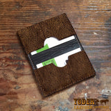 Brown Leather Hippopotamus Card Holder