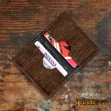 Hippo Brown Leather Business Card Wallet