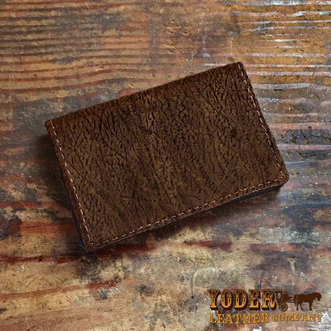 Brown Hippo Hide Card Wallet