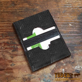 Black Lizard Skin Business Card Holder