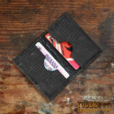 Black Lizard Leather Credit Card Wallet
