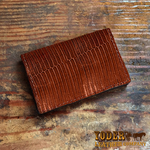 Brown Lizard Skin Wallet
