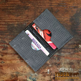 Gray Lizard Leather Credit Card Wallet