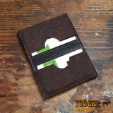 Brown Shark Skin Business Card Holder