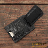 Black Alligator Cash Clip