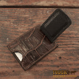 Brown Alligator Money Clip Wallet
