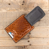 Alligator Leather Magnetic Wallet