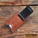 Brown Clip Wallet Magnetic