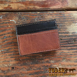 Brown Leather Money Clip Wallet Magnetic