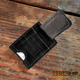 Eel Leather Wallet Black