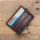 Brown Eel Magnetic Money Clip Wallet