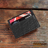 Elephant Leather Clip Wallet Black