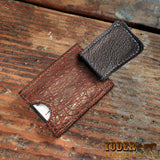 Magnetic Money Cash Clip Elephant Leather