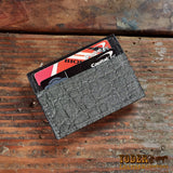 Elephant Hide Magnetic Gray Wallet