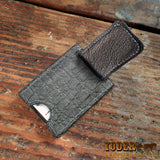Elephant Hide Wallet Gray Money Clip