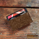 Brown Money Clip Magnetic Wallet