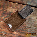 Brown Hippo Magnetic Money Clip Wallet