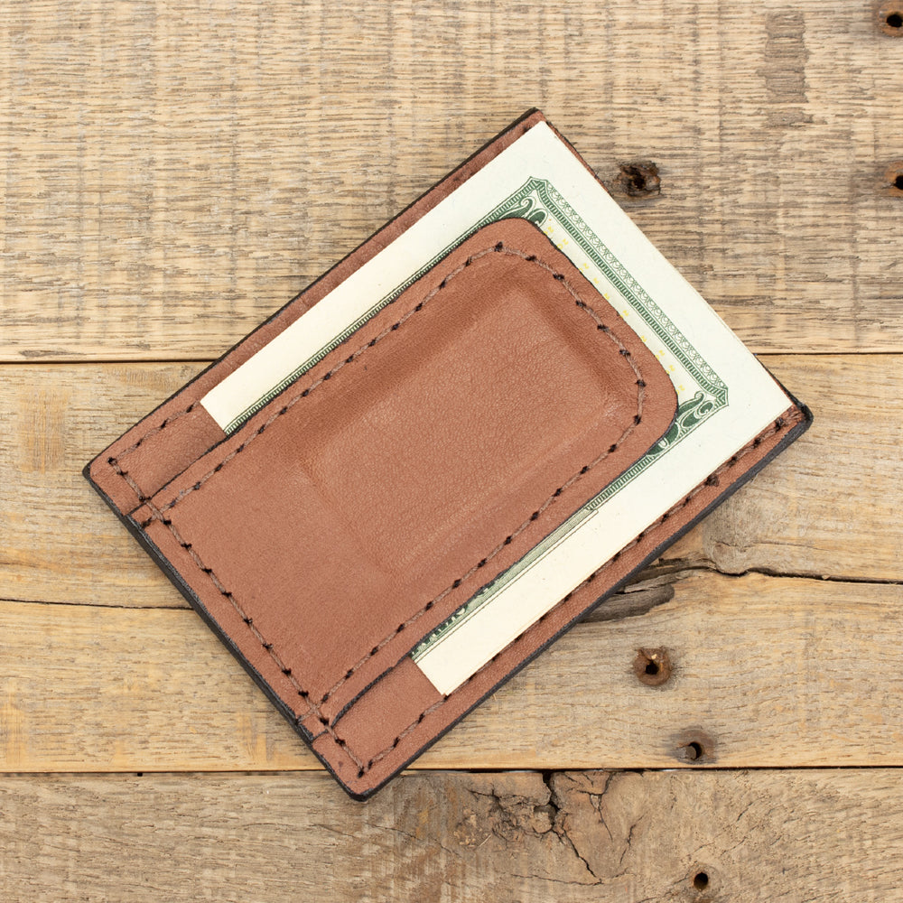 Tan Kangaroo Money Clip Wallet