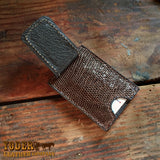 Magnetic Money Clip Brown Lizard