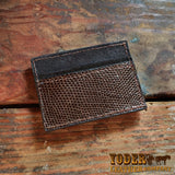 Brown Lizard Magnetic Money Clip Wallet