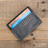 Magnetic Lizard Money Clip Wallet Gray