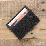 Black Stingray Skin Money Clip