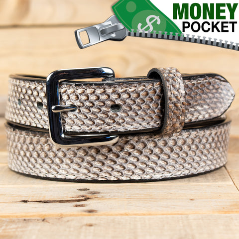 Natural Cobra Money Belt