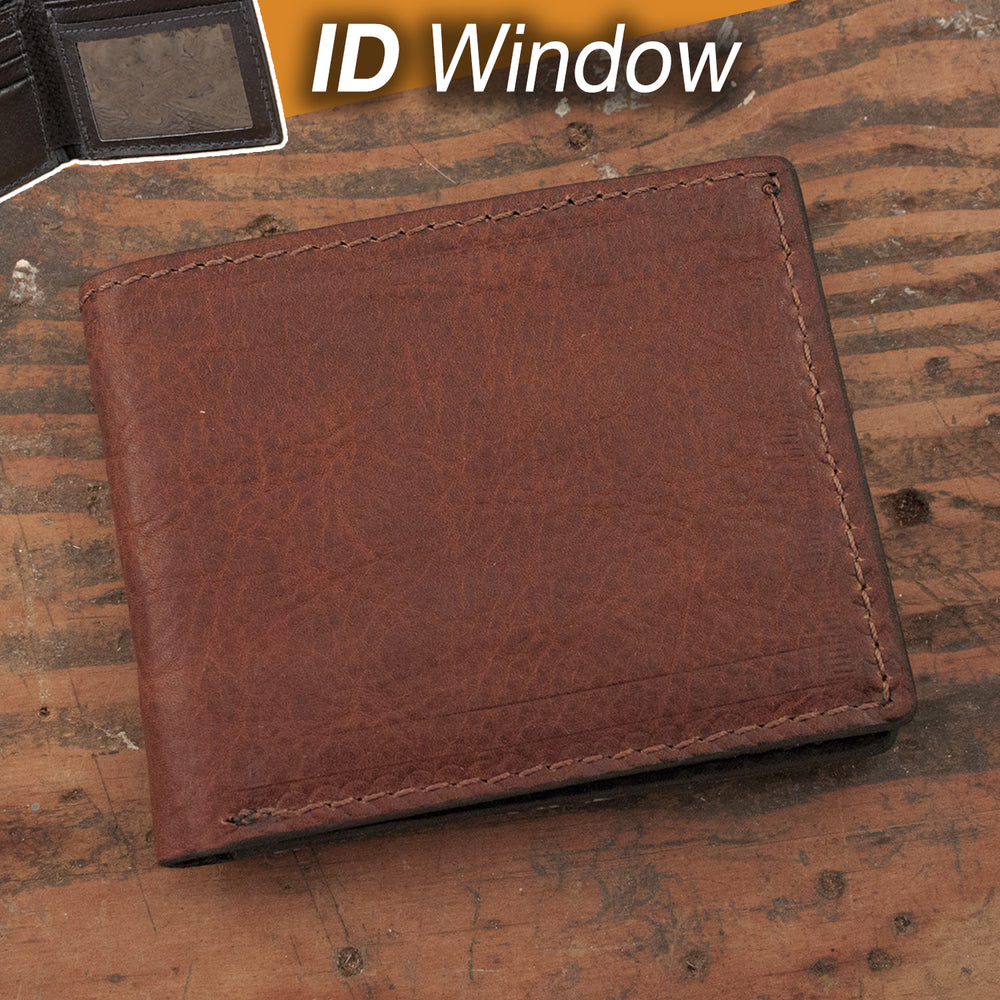 Cowhide Wallet with ID Window