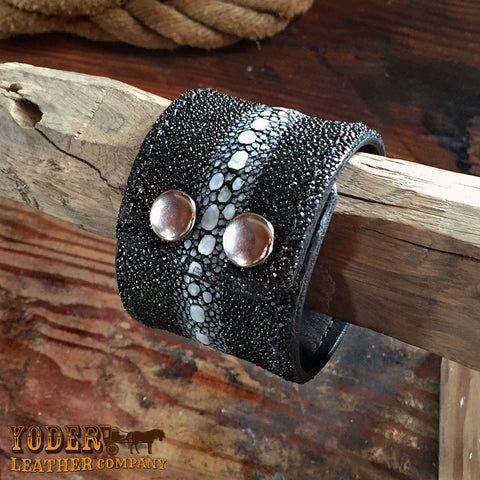 Black Stingray Cuff