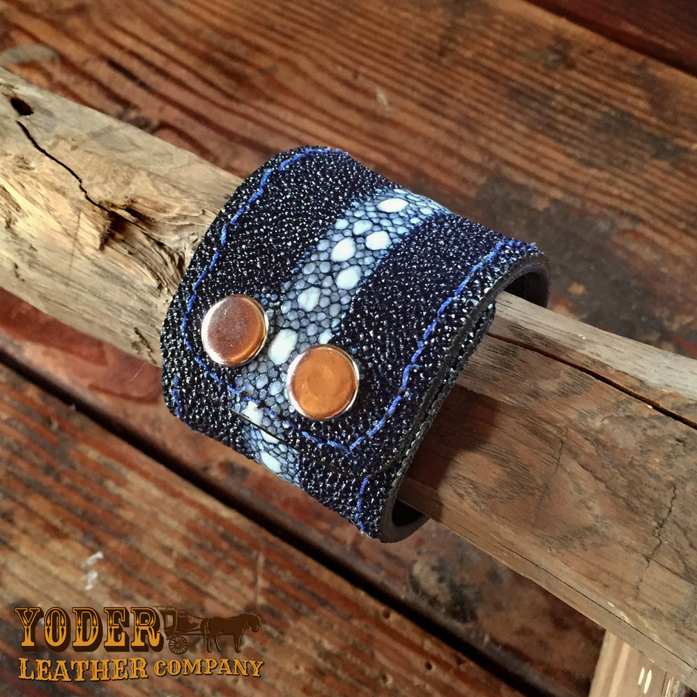 Blue Stingray Cuff