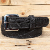 Black Elephant Hide Belt