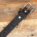 Black Elephant Leather Belt