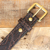 Brown Leather Elephant Belt