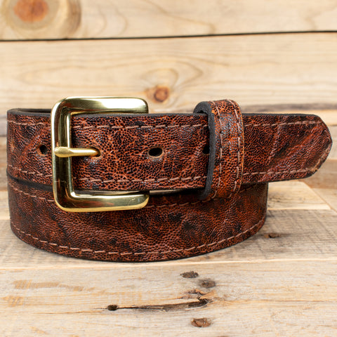 Dragon Fire Elephant Hide Belt