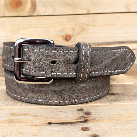 Gray Elephant Leather Belt