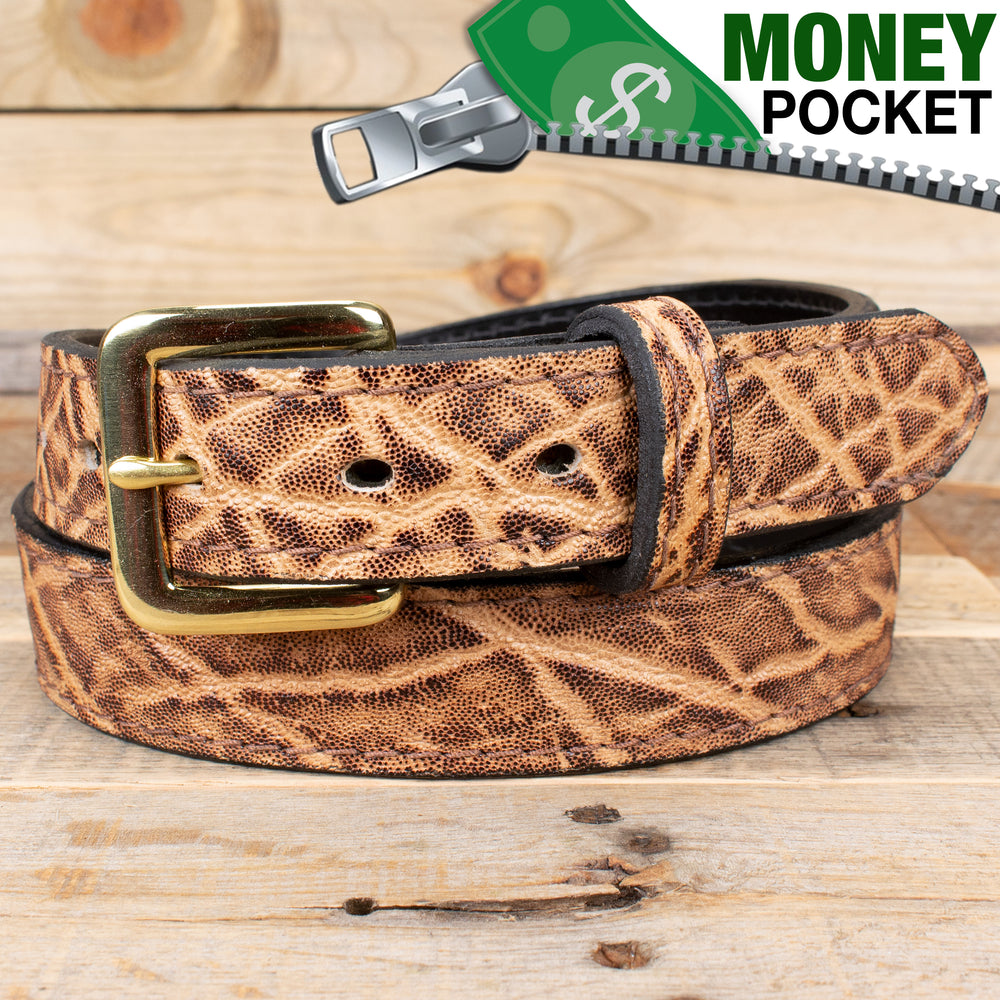 Elephant Rustic Money Belt