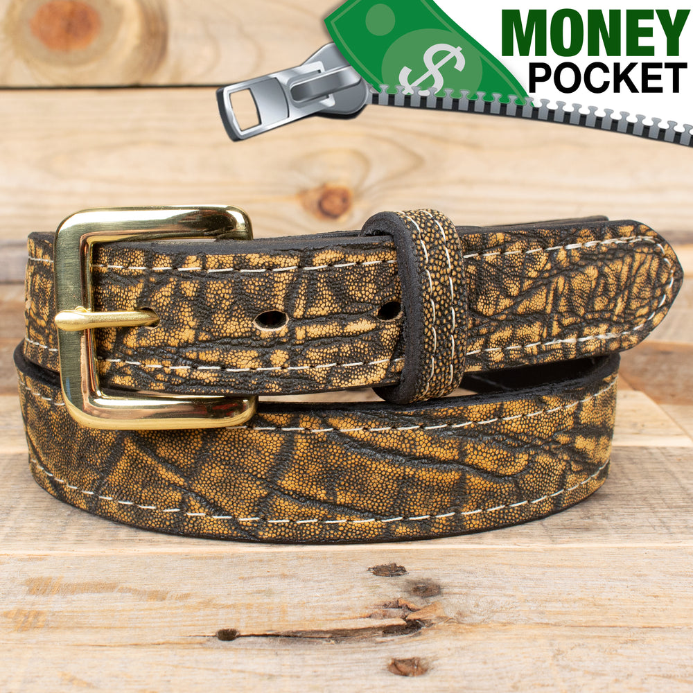 Treebark Elephant Hide Money Belt