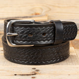 Black Basketweave Belt - Amish made